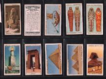 Cigarette card 1926 set Taj Mahal, Pyramids, China